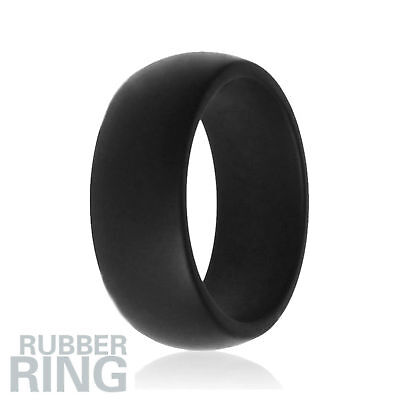 Silicone Engagement Ring Men Women Rubber Band Sport Flexible - Size 11 - 2 Pack