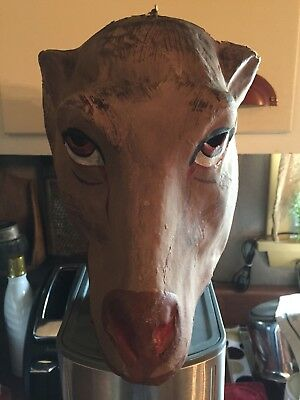 Vintage Paper Mache' Horse Head Mask Antique RARE!