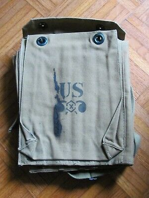 Ww Ii Period Us Army Chemical Corps Canvas Gunner Tool Parts Roll For M2 Empty