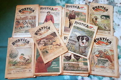Vintage French lot of 20 rustica magazines papers