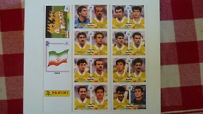 Rare Panini Extra Stickers Planche Iran World Cup France 98 Reprint