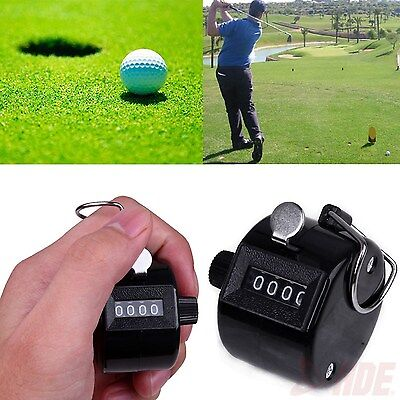 4 Digit Number Manual Handheld Tally Mechanical Clicker Golf Stroke Counter LK