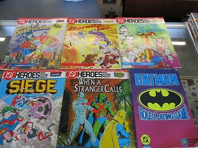 Lot Of Six Dc Heroes Rpm-Role Playing Module- Batman Role Playing Game