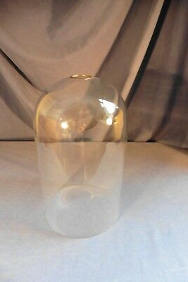 Vintage glass dome for Schatz Anniversary clock with top metal hole