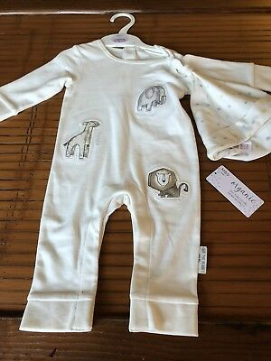 Brand new With Tags M&S Baby Grow With Hat 3-6 Mth