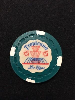 Tropicana First Edtion Casino Chip, $25 Green and white Mint condition