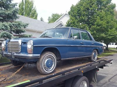 1973 Mercedes-Benz 200-Series Blue mercedes benz e 220 1973