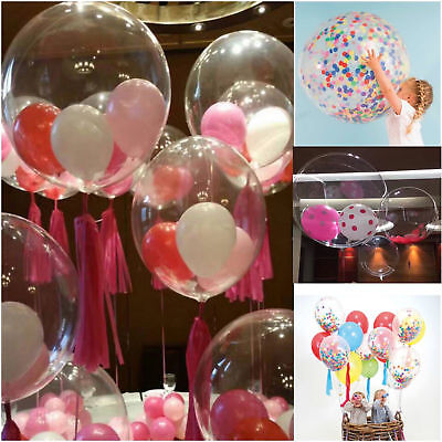 """Clear 36"""" Large Giant wholesale Latex Big Round Balloon Wedding Party Decoration"""