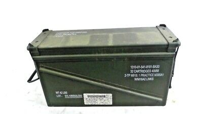 Military Surplus PA120 40mm Green Stackable Steel Metal Ammo Can Chest Box
