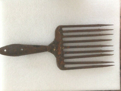 Antique Vintage Wrought Iron Eel Spear with 9 Tines