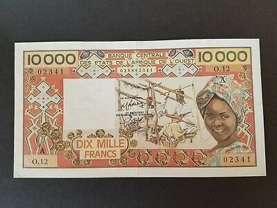 WEST AFRICAN STATES - IVORY COAST - 10000 FRANCS - ND- P109Ac