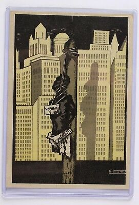 Rare 1929 Russian Soviet Black Lynching Propoganda Postcard No Reserve