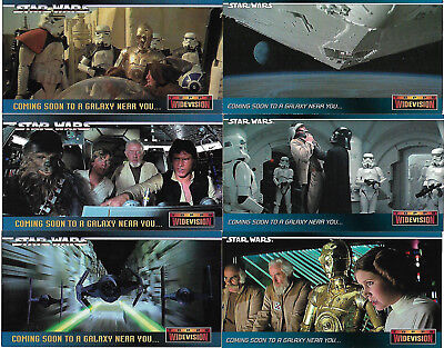 Star Wars ANH Widevision 7 Rare Promo Card Set #00 - SW1 - SW6 - TOPPS 1995