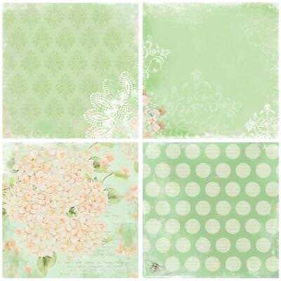 """24x 6"""" Background Paper with Single Side Pattern Album Scrapbook Cards DIY craf"""