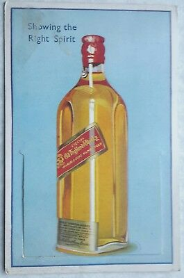 Novelty Card, Pull Out Views of London, Bottle of Whiskey with Red Label 1936