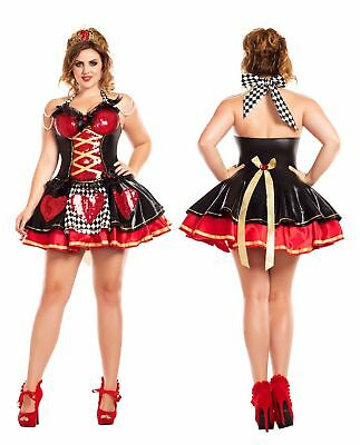 Party King Women's Off with their Heads Queen of Hearts Plus Size Costume