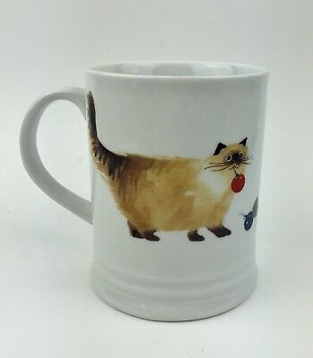 Cat Mug Coffee Cup Christmas Kitty Ornament In Mouth Fringe Studio