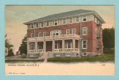 "Summit, Nj. 1906 ""hand Colored"" Overlook Hospital"