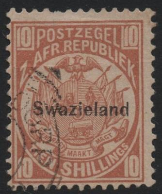 SWAZILAND: 1890 - Sg 9 - 10/- Dull Chestnut Fine Used - Cat £4750 (18156)