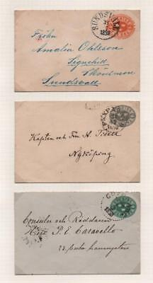 SWEDEN: 1890's Used Covers - Ex-Old Time Collection - Album Page (18233)