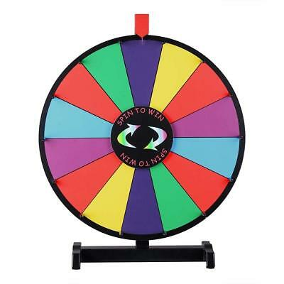 WinSpin 18-inch Round Tabletop Color Prize Wheel 14 Clicker Slots Editable Spin