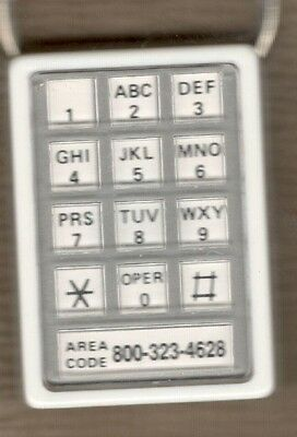 Advertising Fob  Anchor Savings Bank  Rochester   Telephone Keypad