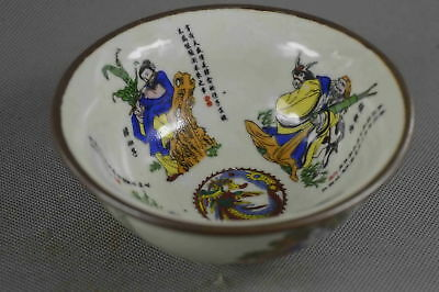 China Art Collectable Porcelain Painting Ancient Myth 8 God Exorcism Bowl Rare