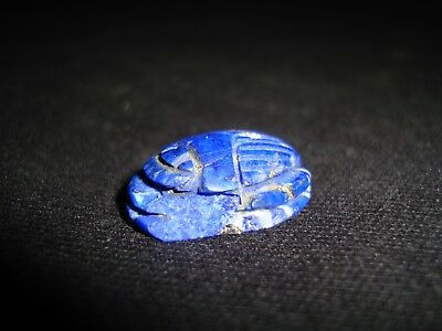 RARE ANCIENT EGYPTIAN ANTIQUE Scarab Lapis Lazuli Lazord Stone New Kingdom1400BC