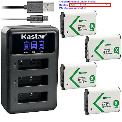 Kastar Battery Triple Charger for Sony NP-BX1 & HDR-CX240E HDR-CX405 HDR-CX440