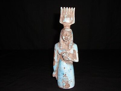 Rare Antique Ancient Egyptian statue Goddess Isis Health 1890-1720 BC