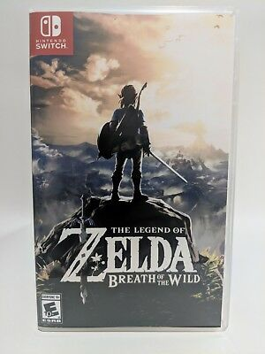 Legend of Zelda Breath of the Wild -Switch- Nintendo Replacement Case *NO GAME*