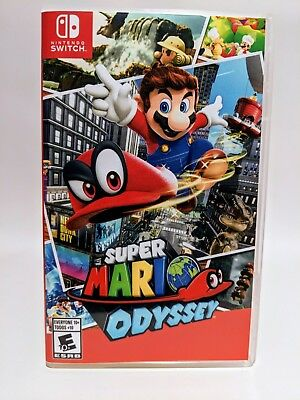 Super Mario Odyssey -Switch- Nintendo Replacement Case *NO GAME*