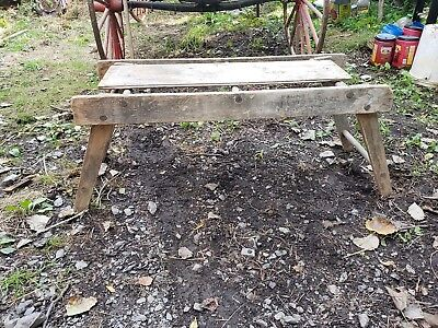 Antique Rustic Plant Stand Scaffold Folding Garden Decoration Old House