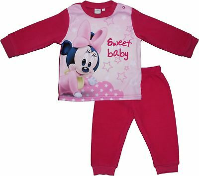 Minnie Mouse Soft Fleece Baby Long Sleeve Pyjamas