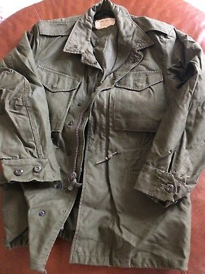 Military M-1951 Field Jacket ~ 8405-255-8591 SATEEN OG-107 ~ Size: Small – Short