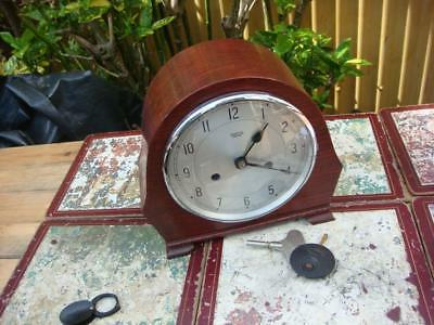 Enfield Strike  Mantle Clock With Key & Pendulum