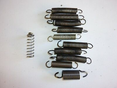 PACK 11 x EXHAUST SPRINGS OTK TONY KART CRG ROTAX ALONSO IAME 100cc X30 6