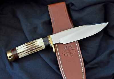 Randall Made Knives * Model 25 - 6 * Brass Hardware * GREAT Stag