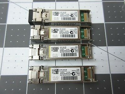 Cisco SFP-10G-SR Transceiver Modules X4