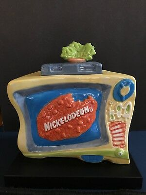 Vintage Nick At Nite - Nickelodeon Cookie Jar In Orignal Box