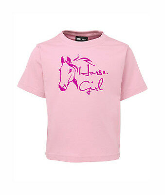 Kids T-Shirt Infant To Kids Sizes Horse Girl 100% Cotton Brand New
