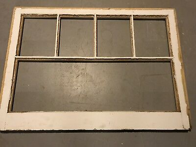 Vintage Farmhouse Sash Antique Wood Window Frame Wedding 5 Pane NO GLASS 40x29