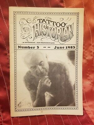 RARE Tattoo Historian #3, Lyle Tuttle, Vintage Tattoo, Tattoo Flash, 1983