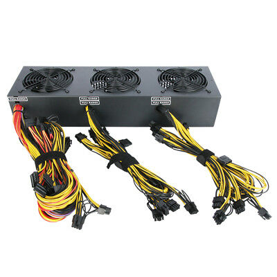 2600W Power Supply For Ethereum Miner Silent Max Support 12 Graphics Card P5M6J