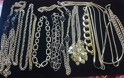 VTG/NOW Estate Lot Jewelry Lot Statement chains, gold tone, necklaces, bracelets