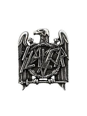 Alchemy Slayer Eagle Pin - Pewter Metal Pentagram Band Logo Official