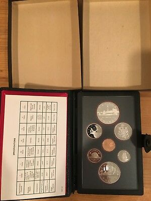 8 ROYAL CANADIAN MINT PROOF SETS in original boxes with Cert of Authenticity