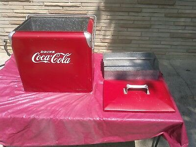 LARGE 1950s-60s Original COCA-COLA COOLER -GOOD ORIGINAL CONDITION!