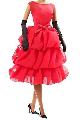 Barbie Fashion Model Silkstone Little Red Dress Outfit & Accessories Only