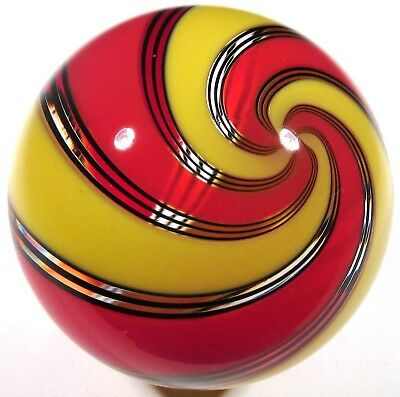 "Hot House Glass banded swirl marble 1.70"" 43mm #682"